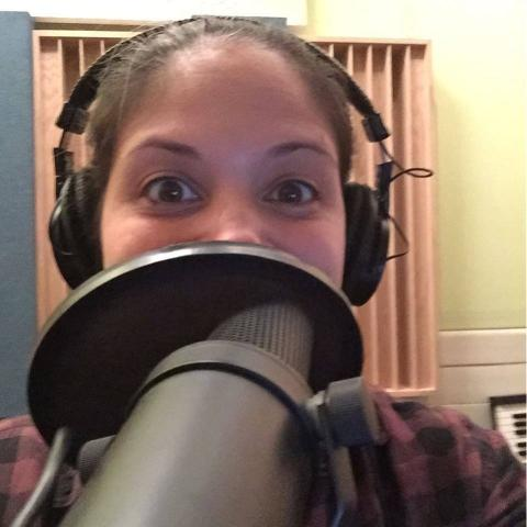 Erica Behind the Mic