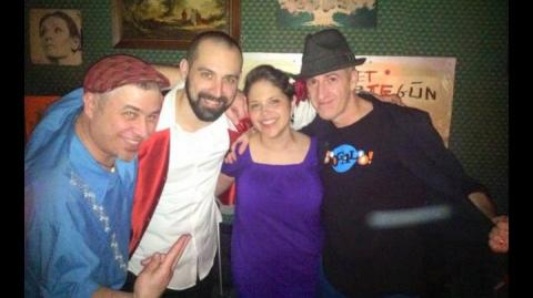 DJ Bongohead and DJ Turmix with David and Erica Nublu